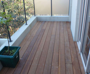 Timber deck over tiles Vaucluse, NSW