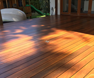 Refinishing an old deck. Looking like new and ready for the pre formal party North Curl Curl, NSW