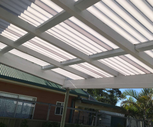 New polycarbonate roofing to freshen up an outdoor area Umina Beach, NSW
