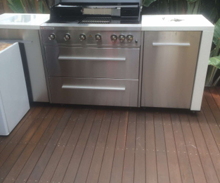 New bbq installed after the old deck was refinished. Looking good Fairlight, NSW