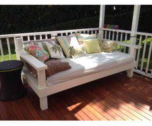 Custom made daybed designed to take a king single matress. Ryde, NSW