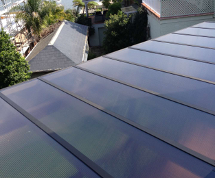 New twinwall roof sheets to replace the old polycarbonate sheets Hunters Hill, NSW