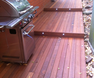 Deck, lights and pergola to tie in with existing deck and screen Frenchs Forest, NSW
