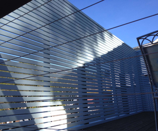 Privacy screening between dual occupancies. Ready for painting Mona Vale, NSW