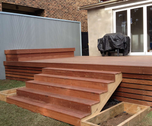 Deck, stairs, fence, daybed and planter boxes Drummoyne, NSW