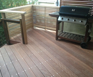 Hardwood deck and joists Centennial Park, NSW