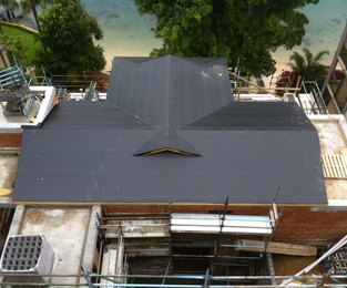 Roof done and ready for copper roof sheets Point Piper, NSW