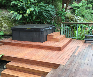 Extension to existing deck and a new spa Cromer, NSW